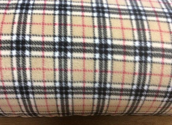 CREAM/BEIGE CHECKED FLEECE