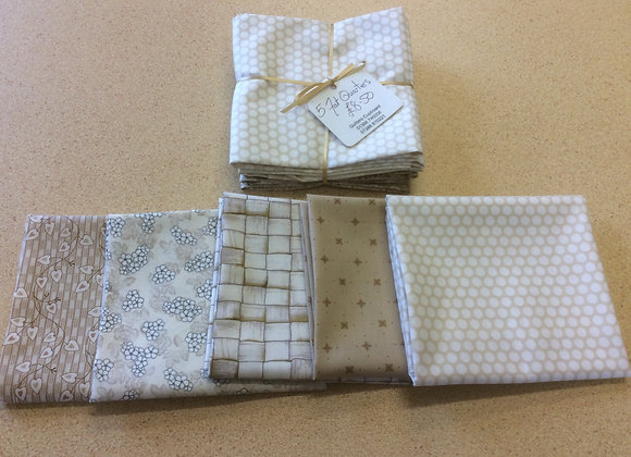 5 fat quarters  Neutrals