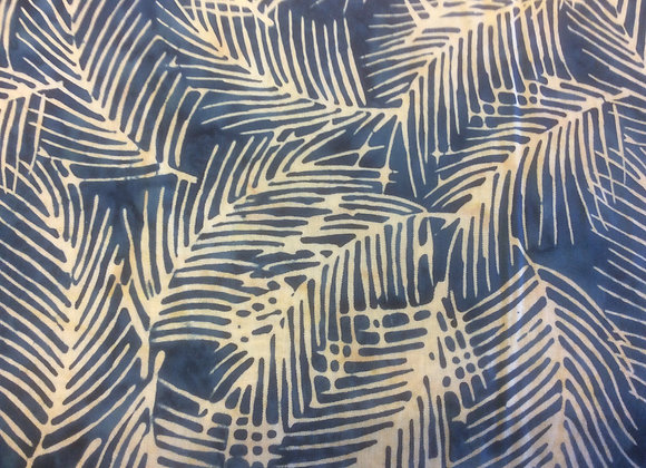 BLUE FEATHERS BATIK   HOFFMAN