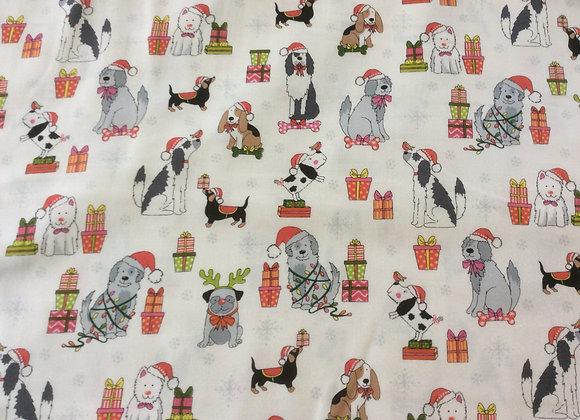 Yappy Christmas Dog Fabric