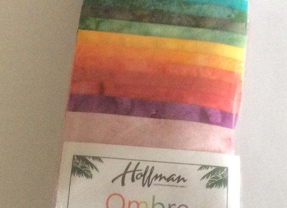 Hoffman Bali Poppy OMBRE  Batiks