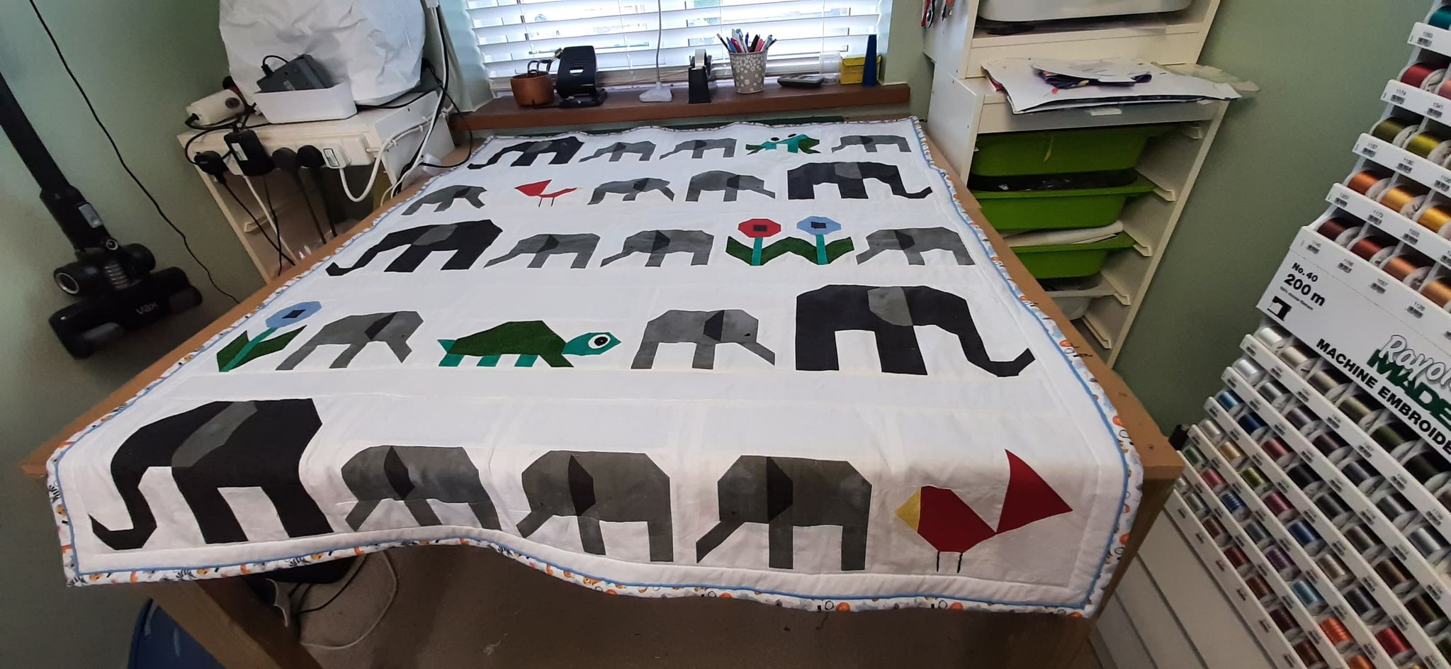 Archies quilt made by Grandma Janet