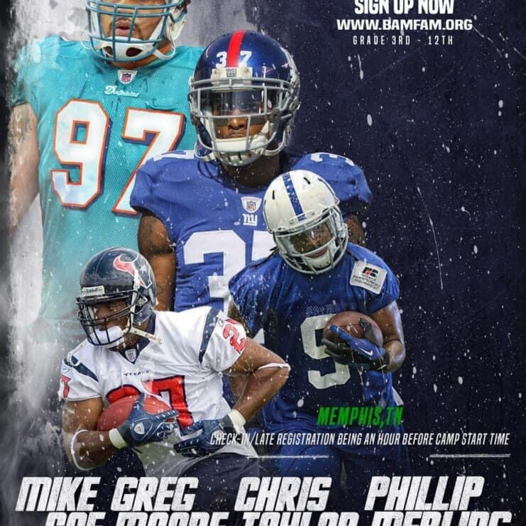 Mike Coe, Greg Moore, Phillip Merling, and Chris Taylor FREE Camp & Showcase
