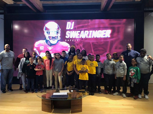Taking kids on a tour at the Under Armour Headquarters