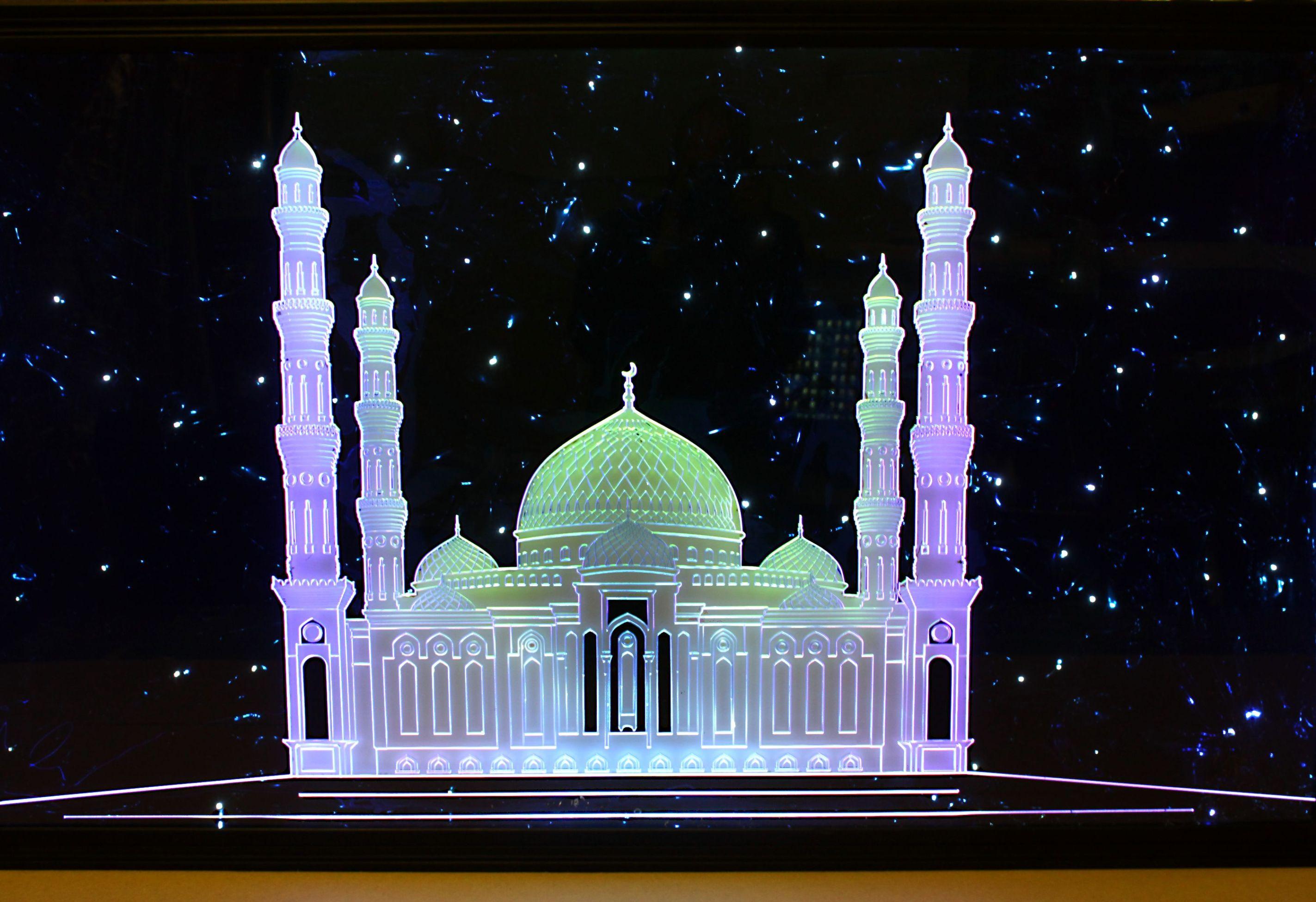 Акрилайтовое -Панно инсталляция Мечеть Х