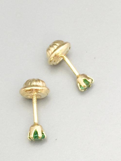 Topos Oro 18 Kilates Esmeraldas 3 mm
