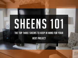 Paint Finish & Sheens 101