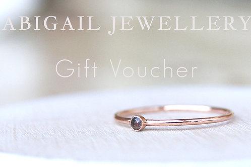 Abigail Jewellery Gift Voucher