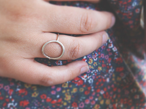 Handmade Sterling Silver Open Circle Ring