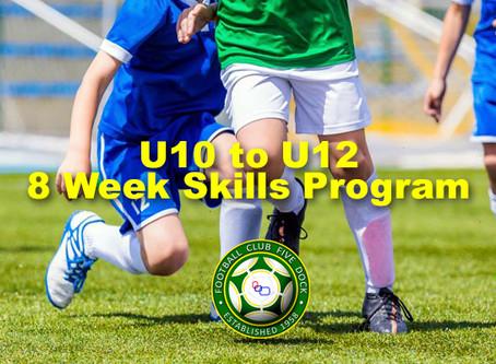 U10 to U12 - 8 Week Skills Program