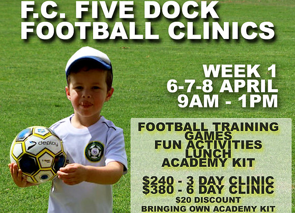 Week 1 - Football Clinic