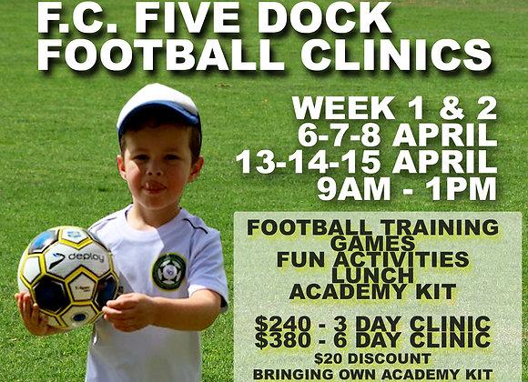 Week 1 and 2 - Football Clinic BUNDLE