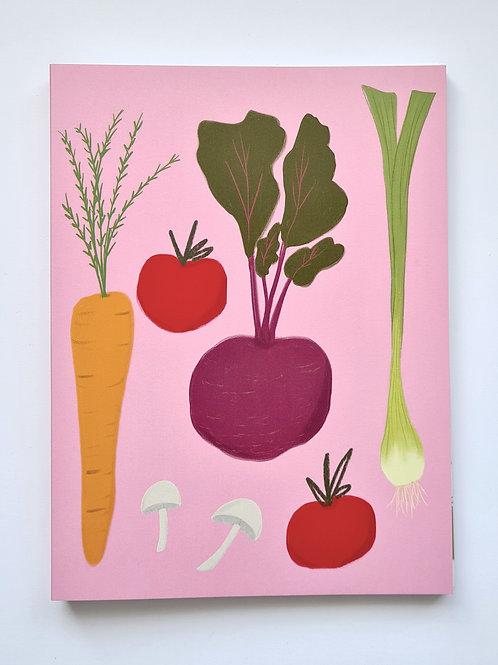 Garden Vegetables Notebook