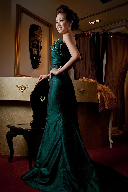 Customized evening gown