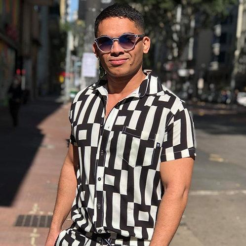 Camisa Estampada Labirinto