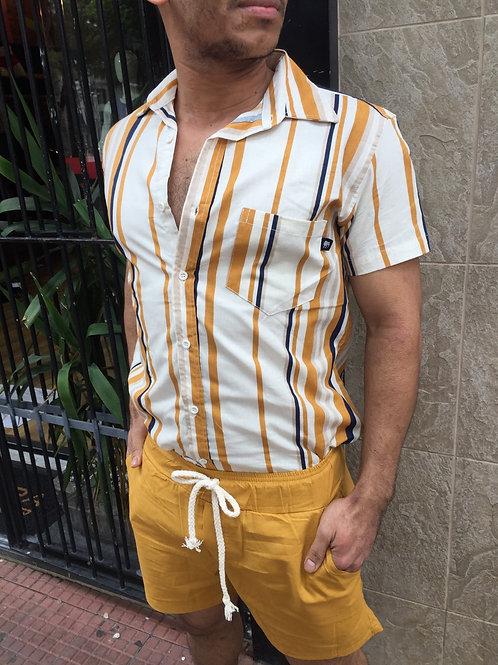 Camisa Listrada Viscolinho