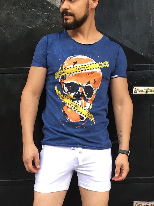 Camiseta Blue Skull