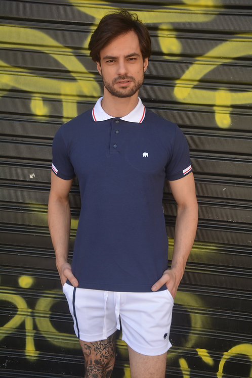 Camiseta Polo Masculina Blue