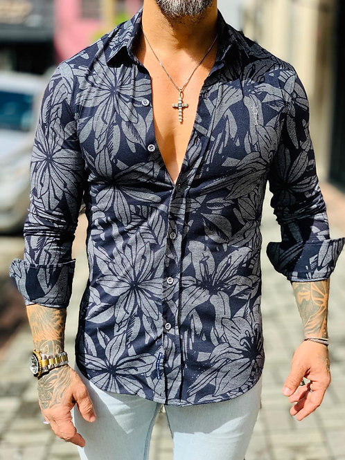 Camisa manga longa marinho