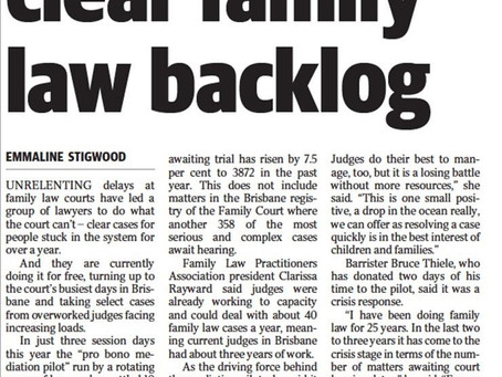 Family law mediators donate days to clear overloaded Court