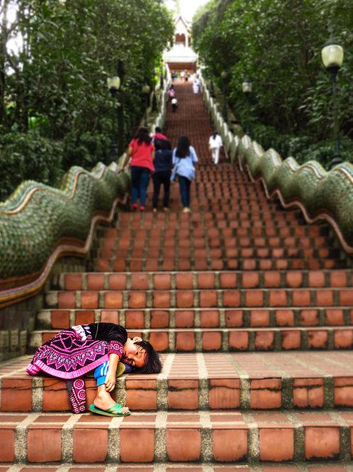 "5"" x 7"" Chiang Mai Steps Lustre Print"