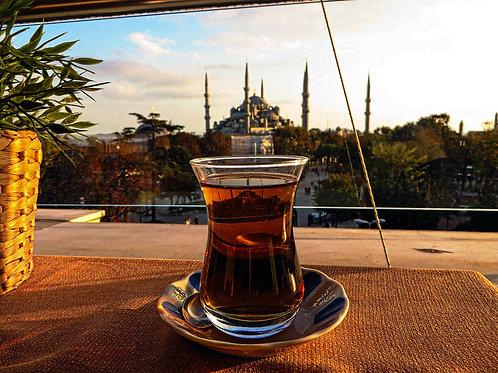 "5"" x 7"" Blue Mosque Teacup Istanbul Lustre Print"