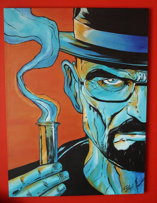 Heisenberg. Acrílico sobre lienzo 50x70cm. VENDIDO