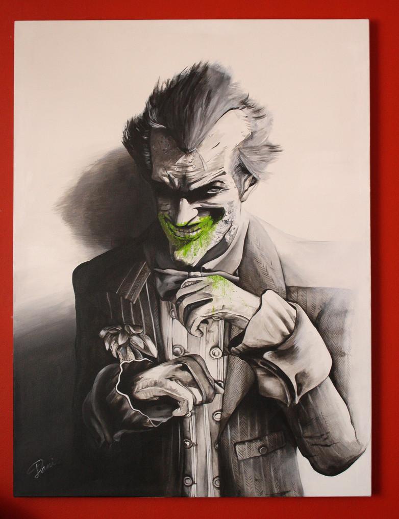 Joker Arkham City. Acrílico sobre lienzo 50x70cm