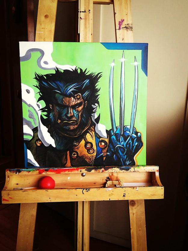 Wolverine.Acrílico sobre lienzo 50x50 cm Disponible en Ingenious Mind Store.