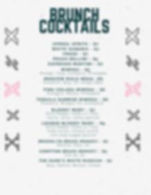 Genx Tavern Brunch Cocktail Menu