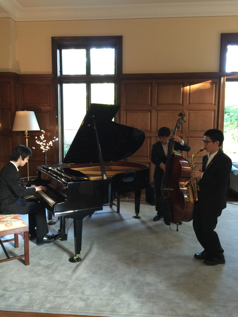 Jazz trio performance at Wheelock College