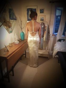 Silk Lame Gown