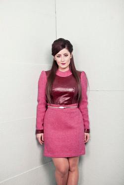 Leather Tweed Dress