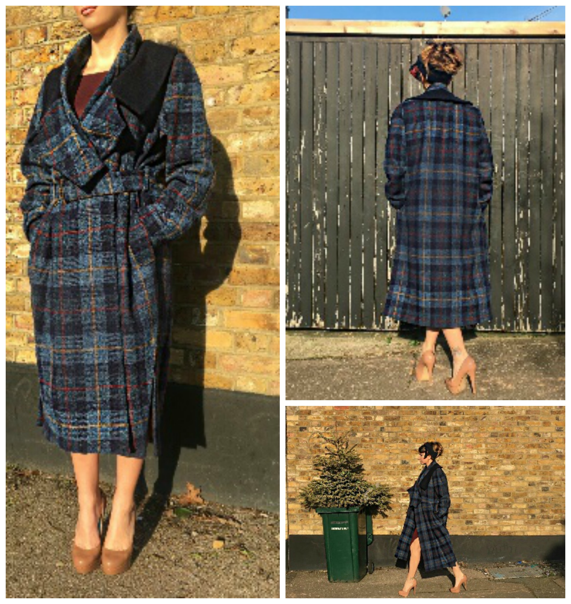 Bespoke Harris Tweed Wool Coat