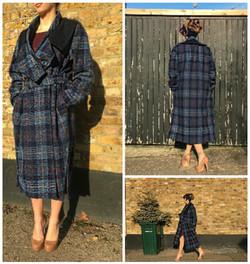 Bespoke Harris Tweed Wool Coat