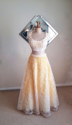 Silk beaded wedding outfit