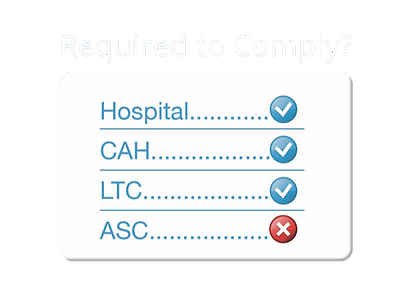 "Which healthcare facilities are required to comply to the CMS Medicare Medicaid memorandum ""Requirements to reduce legionella Risk in healthcare facility water systems to prevent cases and outbreaks of Legionnaires Disease"""