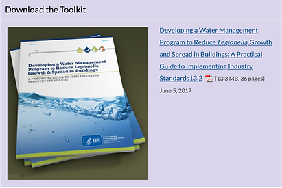 CDC Toolkit for water management program