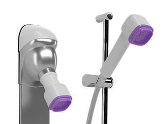 Point-of-use shower head filter for preventing Legionella in healthcare facilities