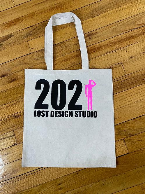 Lost design studio tote bags
