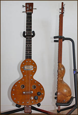 Gourdtar, cigar box, guitar