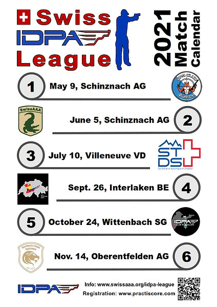 Swiss IDPA League Match Calendar 2021