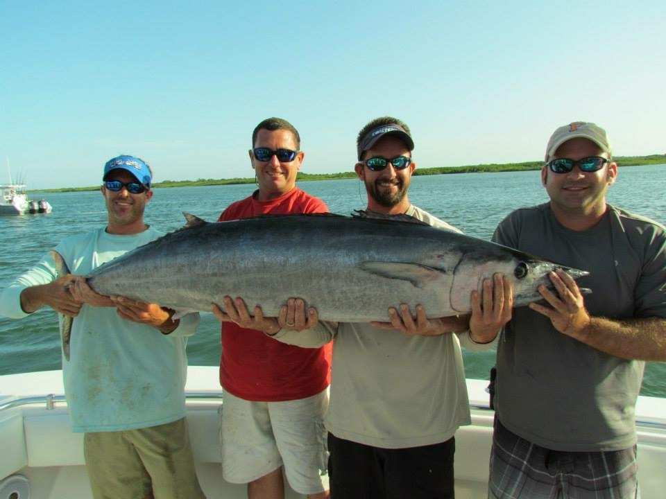 Four guys needed to hold this catch