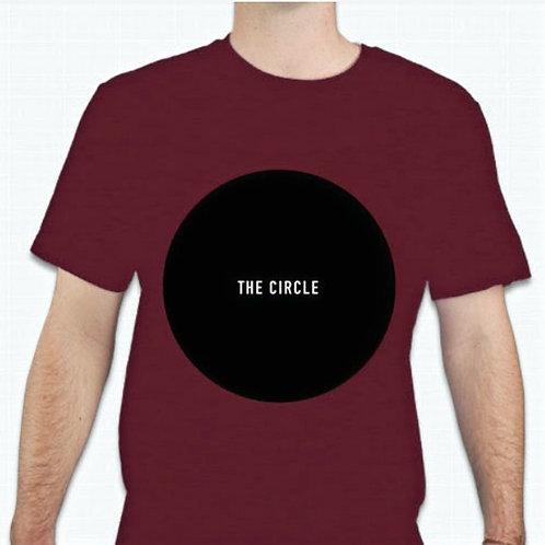 """Dark Red """"The Circle"""" Lyric Tee"""