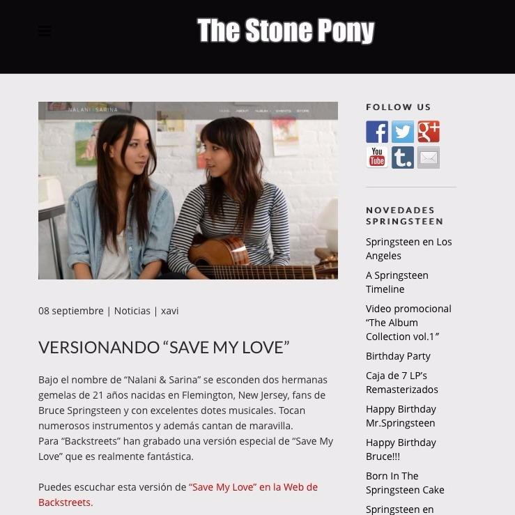 Nalani & Sarina Featured in Spain Blog