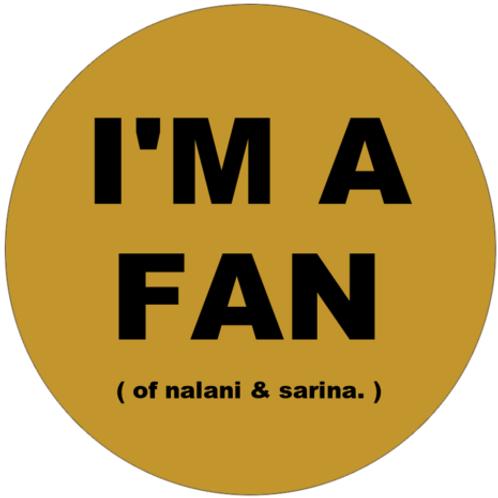 """""""I'M A FAN"""" Yellow N&S Fan"""