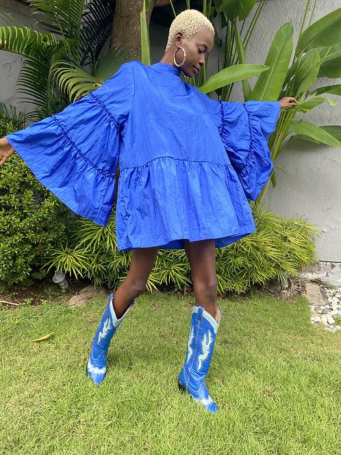 Lili Frill Mini Dress Cobalt