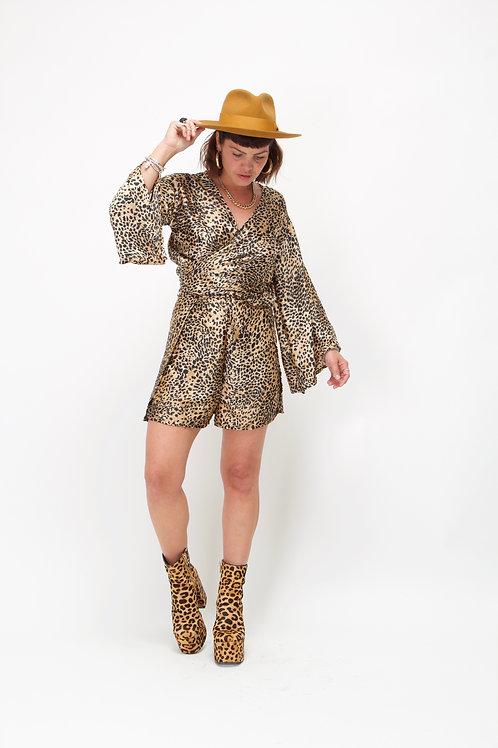 'Suri' Split Shorts in Cheetah Print