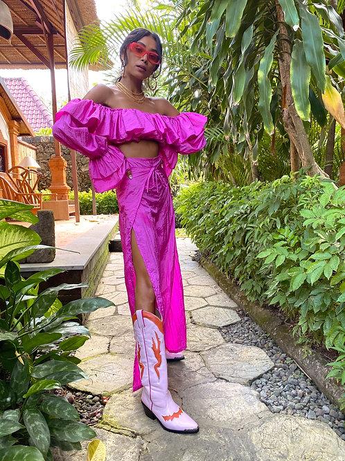 Tallulah Split Leg Trouser Pink