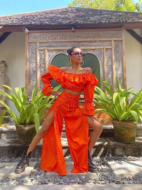 Tallulah Split Leg Trouser Orange